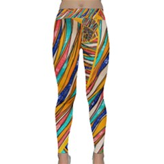 Fabric Texture Color Pattern Classic Yoga Leggings