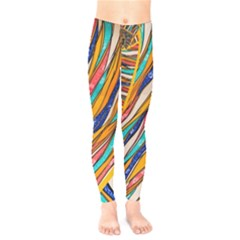 Fabric Texture Color Pattern Kids  Legging by Nexatart
