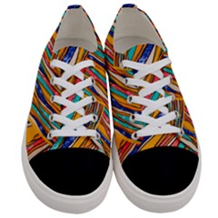Fabric Texture Color Pattern Women s Low Top Canvas Sneakers