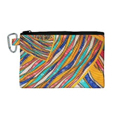 Fabric Texture Color Pattern Canvas Cosmetic Bag (medium)