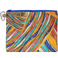 Fabric Texture Color Pattern Canvas Cosmetic Bag (xxxl) by Nexatart