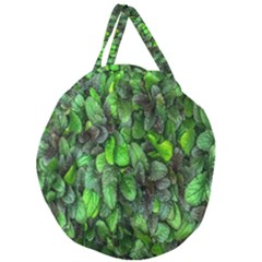 The Leaves Plants Hwalyeob Nature Giant Round Zipper Tote