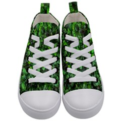 The Leaves Plants Hwalyeob Nature Kid s Mid Top Canvas Sneakers