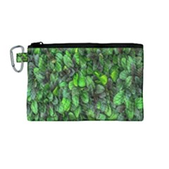 The Leaves Plants Hwalyeob Nature Canvas Cosmetic Bag (medium) by Nexatart