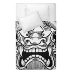 Japanese Onigawara Mask Devil Ghost Face Duvet Cover Double Side (single Size) by Alisyart