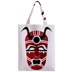 Africa Mask Face Hunter Jungle Devil Classic Tote Bag by Alisyart