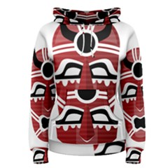 Africa Mask Face Hunter Jungle Devil Women s Pullover Hoodie