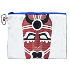 Africa Mask Face Hunter Jungle Devil Canvas Cosmetic Bag (xxl) by Alisyart
