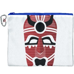 Africa Mask Face Hunter Jungle Devil Canvas Cosmetic Bag (xxxl)