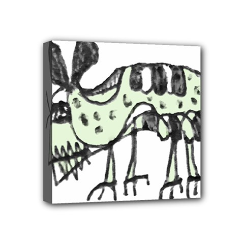 Monster Rat Pencil Drawing Illustration Mini Canvas 4  X 4  by dflcprints