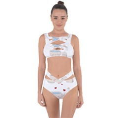 Cute Tea Bandaged Up Bikini Set
