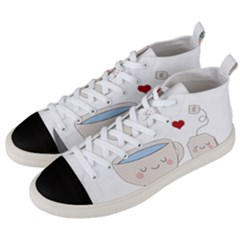 Cute Tea Men s Mid Top Canvas Sneakers by Valentinaart