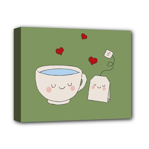 Cute Tea Deluxe Canvas 14  X 11  by Valentinaart