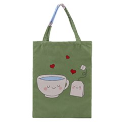 Cute Tea Classic Tote Bag by Valentinaart