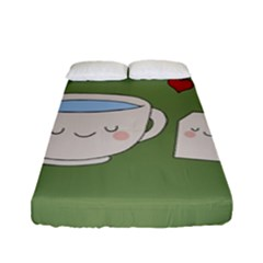 Cute Tea Fitted Sheet (full/ Double Size)
