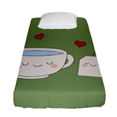 Cute Tea Fitted Sheet (single Size)