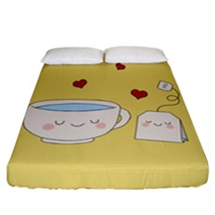 Cute Tea Fitted Sheet (california King Size)