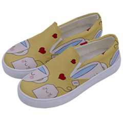 Cute Tea Kids  Canvas Slip Ons by Valentinaart