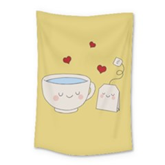 Cute Tea Small Tapestry by Valentinaart