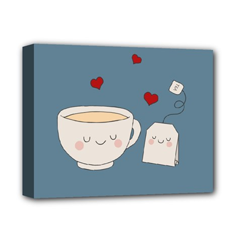 Cute Tea Deluxe Canvas 14  X 11