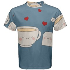 Cute Tea Men s Cotton Tee by Valentinaart