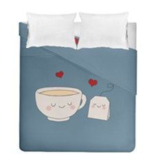 Cute Tea Duvet Cover Double Side (full/ Double Size)