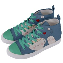 Cute Tea Women s Mid Top Canvas Sneakers by Valentinaart