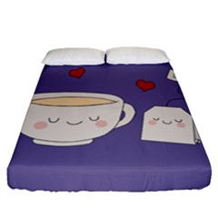 Cute Tea Fitted Sheet (queen Size)