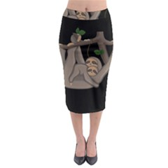 Cute Sloth Midi Pencil Skirt by Valentinaart