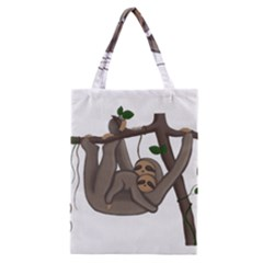 Cute Sloth Classic Tote Bag by Valentinaart