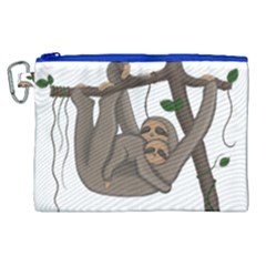 Cute Sloth Canvas Cosmetic Bag (xl) by Valentinaart