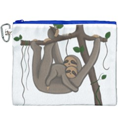 Cute Sloth Canvas Cosmetic Bag (xxxl) by Valentinaart