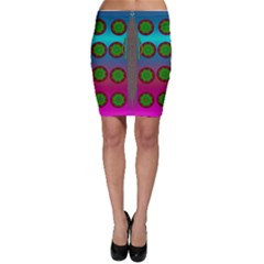 Meditative Abstract Temple Of Love And Meditation Bodycon Skirt by pepitasart