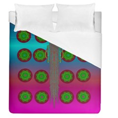Meditative Abstract Temple Of Love And Meditation Duvet Cover (queen Size) by pepitasart