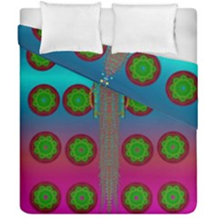Meditative Abstract Temple Of Love And Meditation Duvet Cover Double Side (california King Size) by pepitasart
