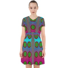 Meditative Abstract Temple Of Love And Meditation Adorable In Chiffon Dress
