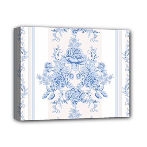 Beautiful,pale Blue,floral,shabby Chic,pattern Deluxe Canvas 14  X 11  by 8fugoso