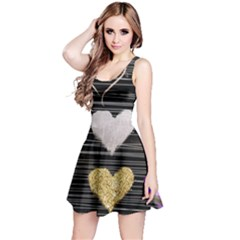 Modern Heart Pattern Reversible Sleeveless Dress by 8fugoso