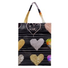 Modern Heart Pattern Classic Tote Bag by 8fugoso