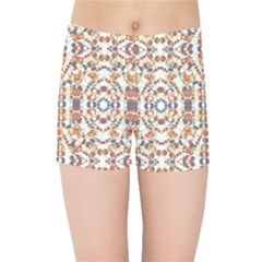 Multicolored Geometric Pattern  Kids Sports Shorts by dflcprints