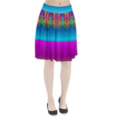 Sky Earth And Star Fall Pleated Skirt by pepitasart