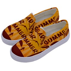 Ready For Summer Kids  Canvas Slip Ons by Melcu