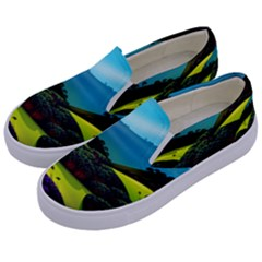 Morning Mist Kids  Canvas Slip Ons by ValleyDreams
