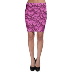 Shimmering Hearts Pink Bodycon Skirt by MoreColorsinLife