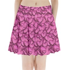 Shimmering Hearts Pink Pleated Mini Skirt by MoreColorsinLife