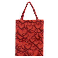 Shimmering Hearts Deep Red Classic Tote Bag by MoreColorsinLife