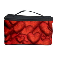 Shimmering Hearts Deep Red Cosmetic Storage Case