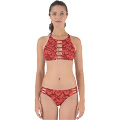 Shimmering Hearts Deep Red Perfectly Cut Out Bikini Set by MoreColorsinLife