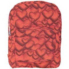 Shimmering Hearts Deep Red Full Print Backpack by MoreColorsinLife