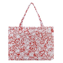 Vivid Hearts, Red Medium Tote Bag by MoreColorsinLife